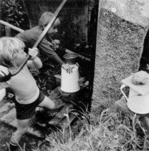 Brother fetching water in 1972